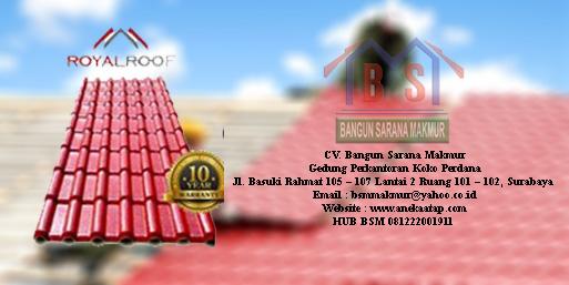 harga atap royal roof per lembar