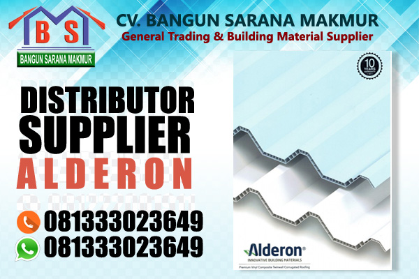 supplier atap upvc alderon di alor ntt